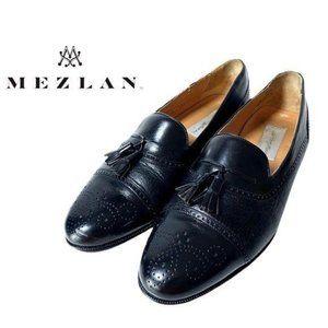 Mezlan Havana Cap Toe Leather Loafers